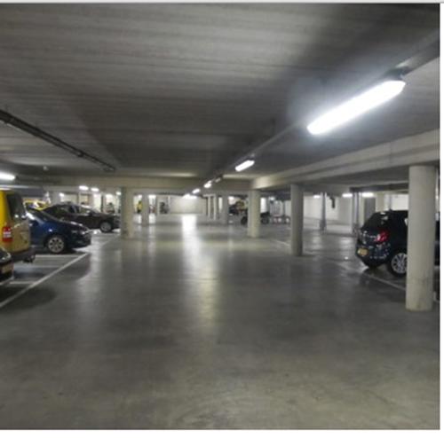 parkeergarage onder provinciehuis groningen voorzien van led verlichting foto interparking